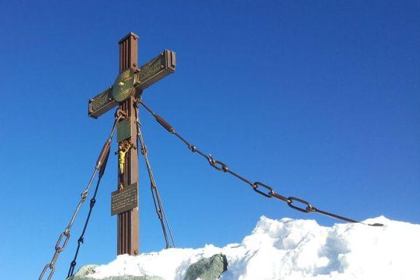 Kaiserkreuz am Gipfel des Großglockners