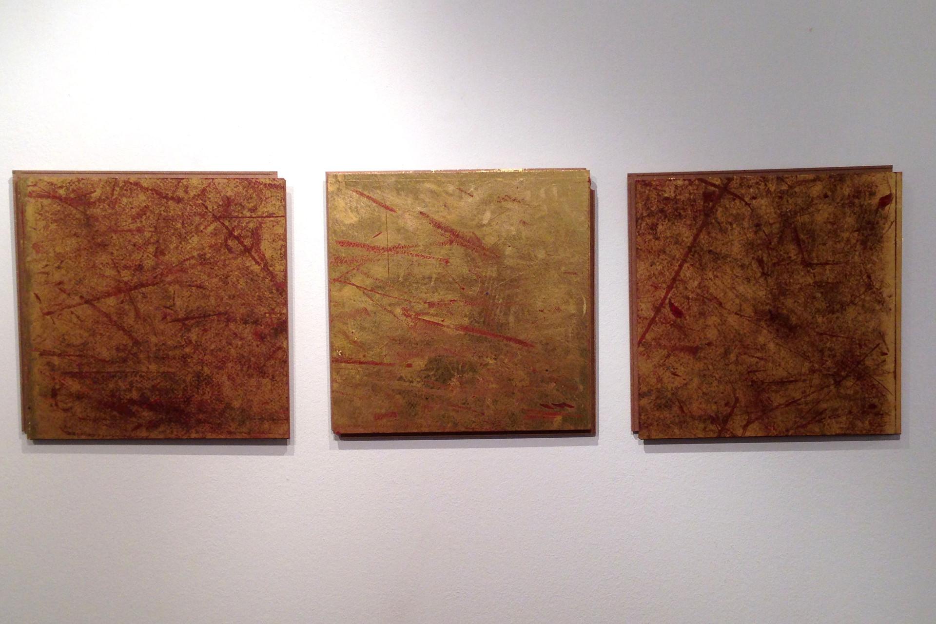 """Gemälde """"Social Gold"""" von Johannes Angerbauer"""