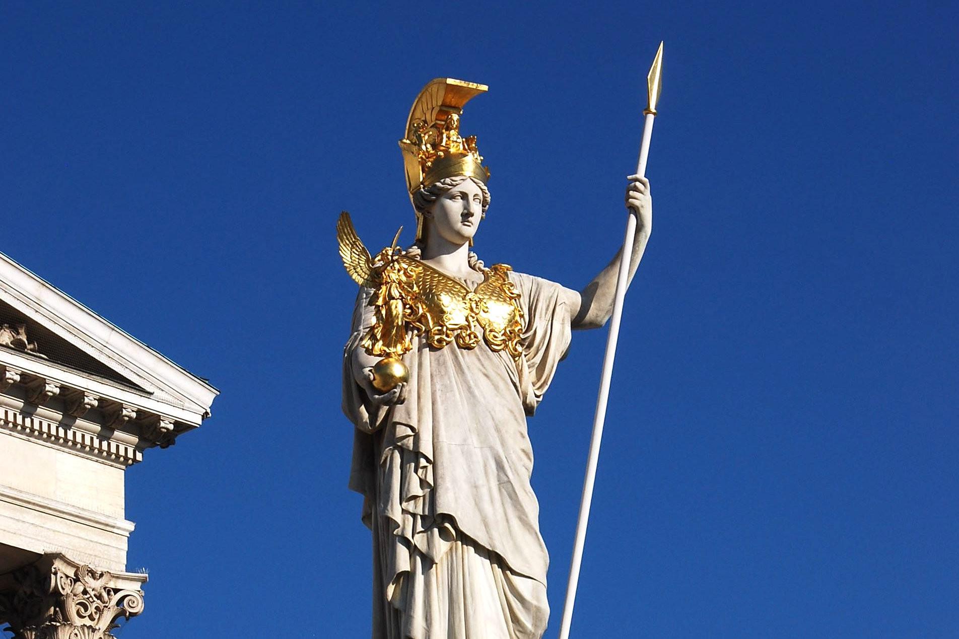 Pallas Athene vor dem österreichischen Parlament